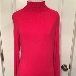 ETCETERA TOP TURTLENECK PINK JERSEY LONG SLEEVE S